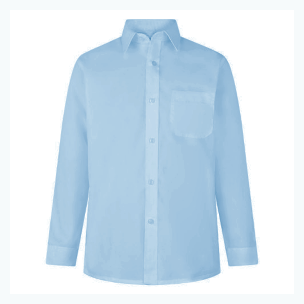 Boys Long Sleeve Non-Iron Shirts (Twin Pack)