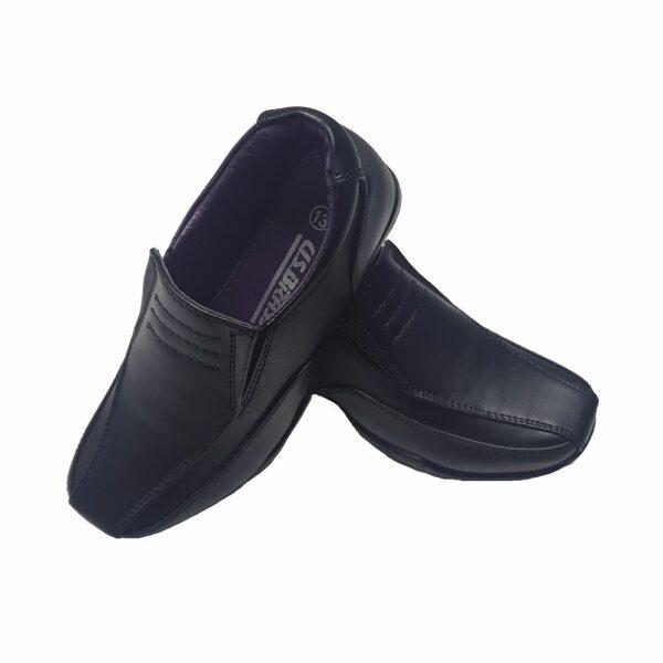Boys Black School Shoes COMET Slip on School Uniform
