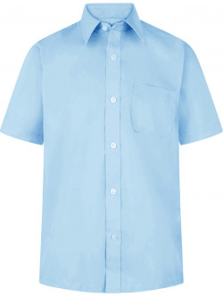 Boys Short Sleeve Non-Iron Shirts (Twin Pack)
