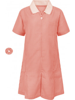 Girls Red Gingham Summer Dress