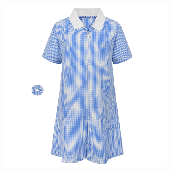 Girls Gingham Summer Dress