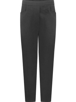 Girls Grey Heart Trousers