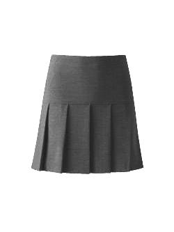 Girls Grey Pleated Skirt
