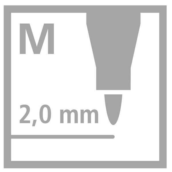 Power Fibre Tip Colouring Pen (Pack of 12)