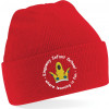 Kingsway Infant School Logo KIS Red Beanie Knitted Hat Unisex Uniform Accessories