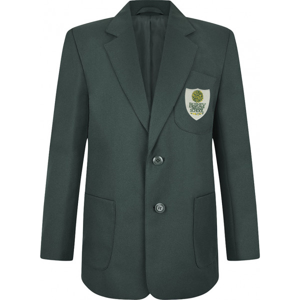 Bushey Meads School Logo BMS Bottle Green Boys Blazer Uniform