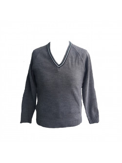 Bushey Meads School (BMS) V-Neck Knitted Jumper with Trim