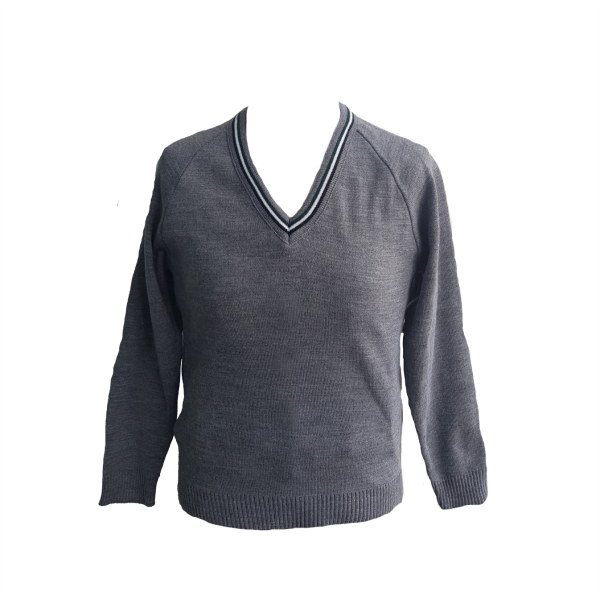 BMS V-Neck Knitted Jumper with Trim