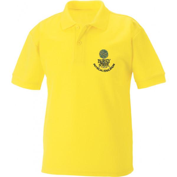 Bushey Meads School BMS Sports Tshirt Yellow Boys Girls Unisex Uniform