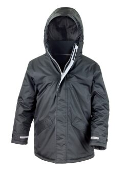 Black Winter Parka Jacket