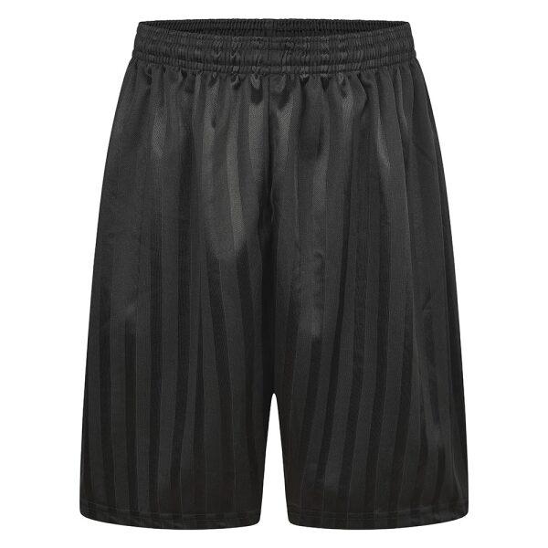 Black shadow stripe PE shorts Unisex Uniform