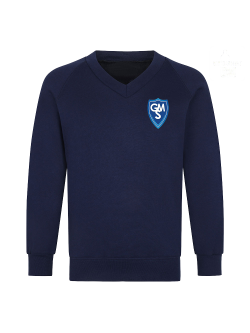 Garston Manor School V-Neck Sweatshirt (Navy)