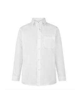 Boys Long Sleeve Non-Iron Shirts (Twin Pack)