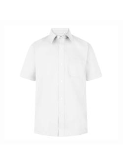Boys Short Sleeve Non-Iron Shirts (Twin Pack)