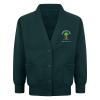 Colnbrook school Bottle green cardigan with logo